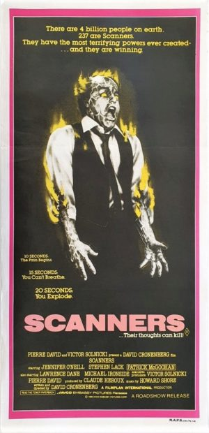 Scanners Australian Daybill Movie Poster (11)