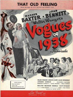 Vogues Of 1938 Us Film Sheet Music (17)