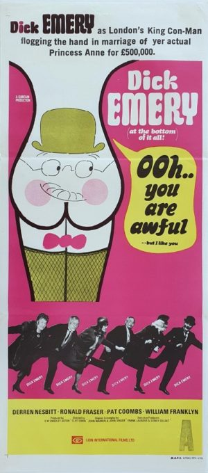 Ooh You Are Awful Australian Daybil Movie Poster Dick Emery