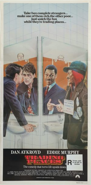 Trading Places Australian Daybil Movie Poster With Eddie Murphy