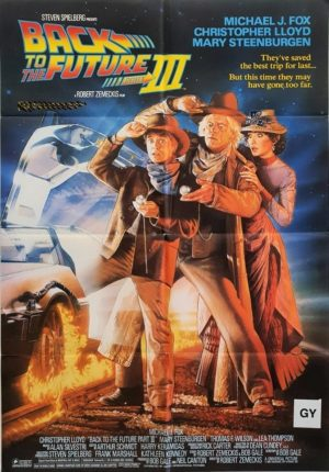 Back To The Future Part 3 Australian One Sheet Movie Poster With Nz Rating (3)